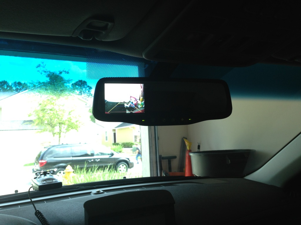 Back Up Camera Install Rear View Mirror Version Gentex Wiring Diagram 12 Pin Photo Is Washed Out Because Bright Fl Sun And My Fancy Iphone5 Dont Really Work Well But For The Price I Am Not Complaining At All